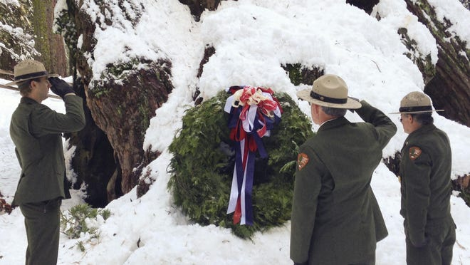 The annual Trek to the Nation's Christmas Tree is Dec. 11 at General Grant Tree in Kings Canyon National Park.