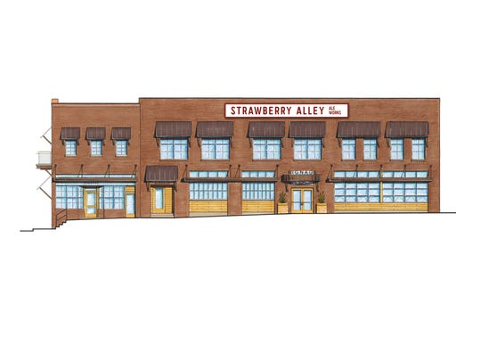 Artist's exterior rendering of the planned Strawberry