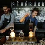 Starbucks employees in Seattle in March 2016.