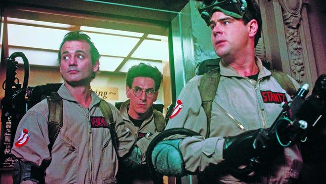"Dan Aykroyd in the original 1984 ""Ghostbusters."""
