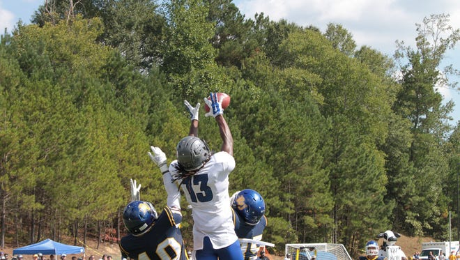 Jazeric Peterson caught the game-winning touchdown pass for Faulkner.
