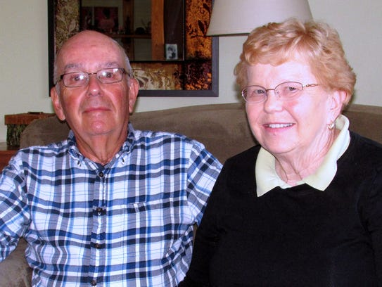 Clayton and Nancy Sauberan of Horseheads are grateful