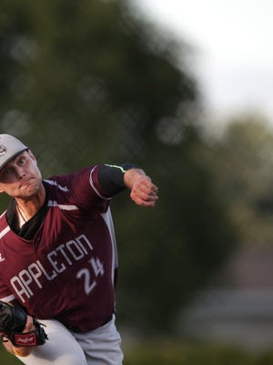 BJ Chase of the Appleton Legends was named most valuable pitcher in the Northeastern Wisconsin Baseball League this season.