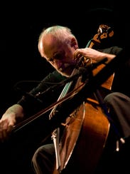 Cellist Eugene Friesen performs a winter solstice concert
