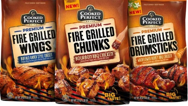 Cooked Perfect Fire Grilled Chicken are frozen entree chicken that come in flavors such as lemon-herb tenders, honey barbecue drumsticks and buffalo ranch wings.