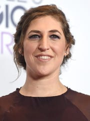 "FILE - In this Jan. 6, 2016 file photo, Mayim Bialik poses in the press room after winning favorite network TV comedy for ""The Big Bang Theory"" at the People's Choice Awards in Los Angeles. Bialik, with basketball greats Shaquille O'Neal and Kenny Smith, will help decide the winner of the tech-competition series, ""America's Greatest Makers,"" on TBS. The winner will be awarded $1 million. (Photo by Jordan Strauss/Invision/AP, File)"