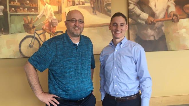 Gary Click and U.S. Senate candidate Josh Mandel.