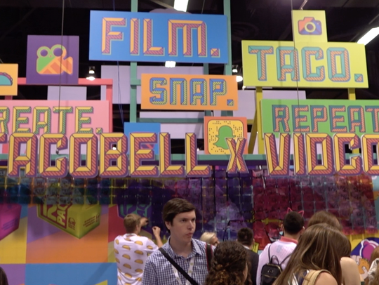 The Taco Bell booth at VidCon