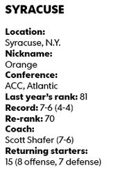 College football countdown no 75 syracuse two months later scott shafer the orange clad orange coach espoused a similar mindset after his seven win syracuse debut malvernweather Gallery