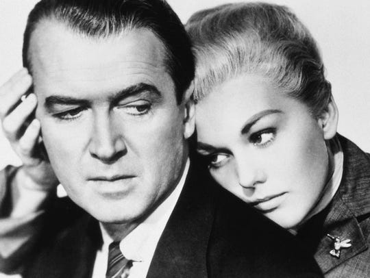 James Stewart and Kim Novak star in Alfred Hitchcock's