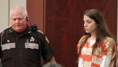 Shayna Hubers enters Campbell Circuit Court on Monday