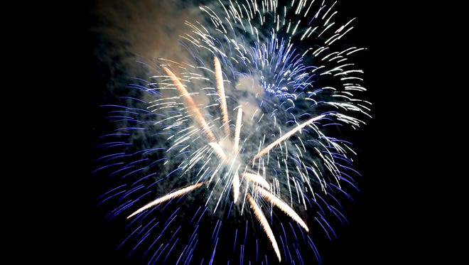 Fourth of July fireworks were let off Wednesday night in Chillicothe's Yoctangee Park to celebrate the holiday.
