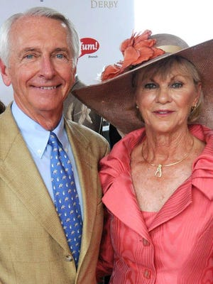 Former Kentucky Gov. Steve Beshear and his wife Jane Beshear, shown at the 2012 Kentucky Derby.