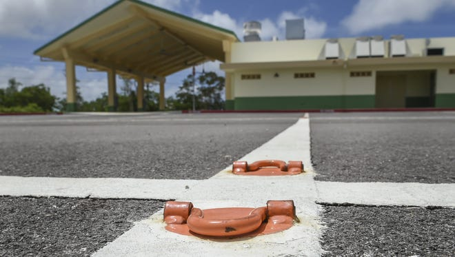 The Guam Farmers Market facility in Dededo remains unused, as photographed on March 9. The ribbon cutting ceremony for the facility took place on Dec. 29.