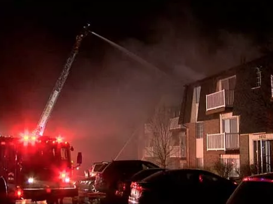 Crews battle a fire at a Fairfield apartment building