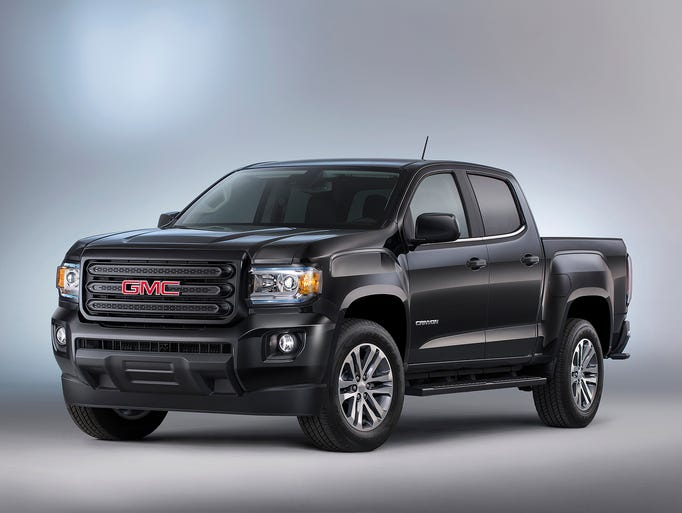 The 2015 GMC Canyon Nightfall Edition features a body-color