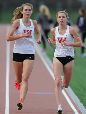 Red Devil sisters Lauren and Kristen Johnson were dominant again this year in the 3200 meter run.