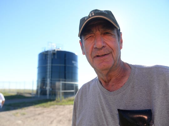 Gordon Lencioni, a lifelong resident of Sand Coulee, is grateful for the town's new water system. He can remember a time when, as child, he hauled water in a cream can to his home.