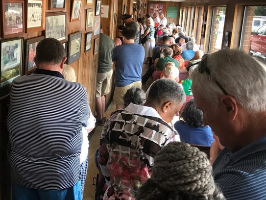 It was standing room only at Joe's for Sunday afternoon's