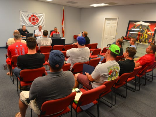 Brevard County firefighters union meeting