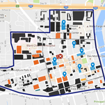 See how much land downtown is dedicated to parking