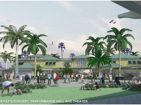 Rendering of the proposed Civic and Cultural Core,
