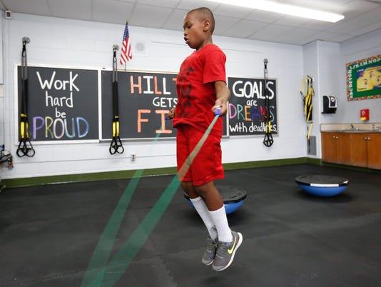 Hilltop School Get Fit room