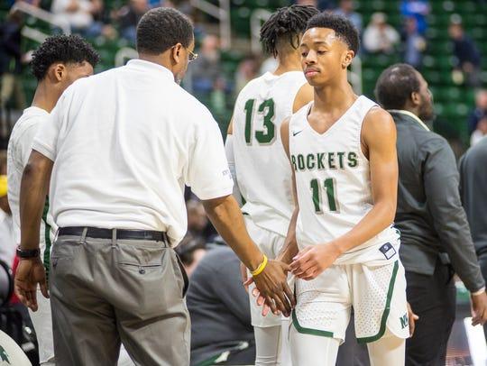 New Haven High School player Tavares Oliver Jr. (11)