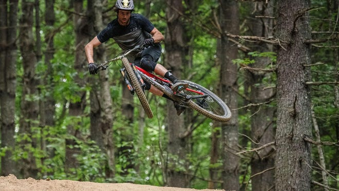 Pisgah Forest's Neko Mulally gets some air during a recent visit to Ride Kanuga.