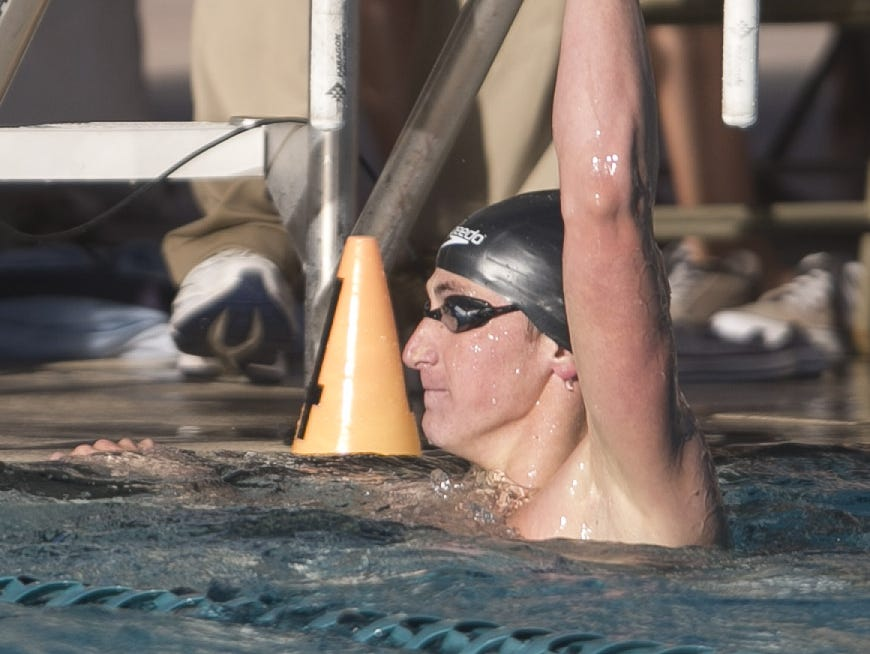 Ryan Hoffer owns the state high school record in the 50- and 100-yard freestyles.