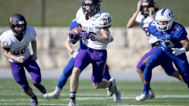 Liberty Hill running back Trey Seward and the Panthers enter this week 6-0 and No. 2 in the American-Statesman's Class 5A poll.
