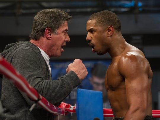 Sylvester Stallone and Michael B. Jordan star in 'Creed.'