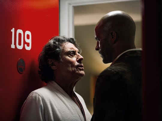 "Ian McShane and Ricky Whittle co-star in ""American Gods,"" premiering Sunday night on Starz."