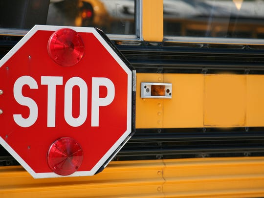 A school bus was involved in a crash near Downtown Monday morning.