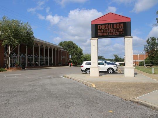 The area in front of Jones County Junior College's