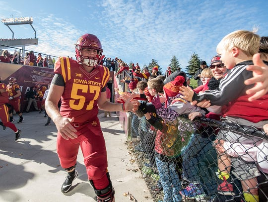Iowa State offensive lineman Colin Newell will get plenty of shots to play in 2018.