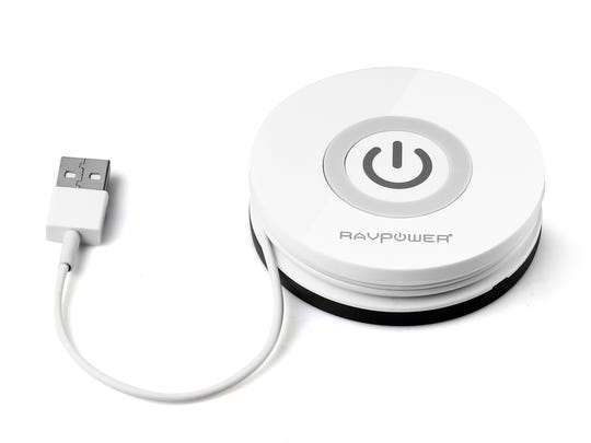 The RAVPower Orbit is a wireless charger that uses