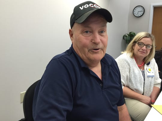 CareMore patient Robert Bruns, 62, of Colfax, recounts how CareMore staff figured out he had a life-threatening case of leukemia. His nurse case manager, Teresa Martin, listens in.