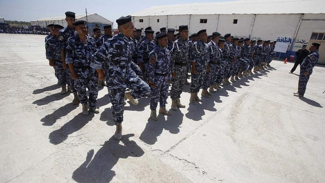 Volunteers who have joined the Iraqi security forces to fight ISIL (Islamic State in Iraq and the Levant).