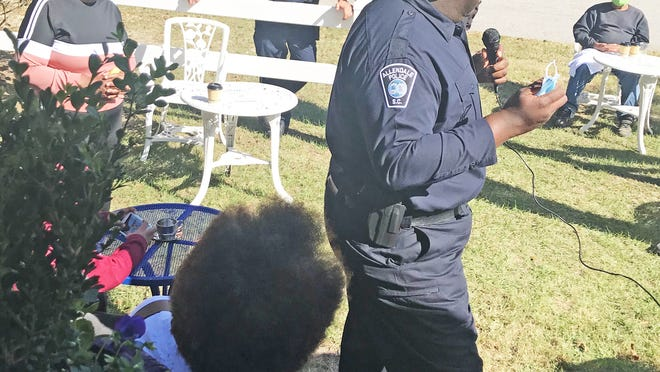 """Citizens and law enforcement got a chance to talk with each other during a """"Coffee & Hope"""" event held October 31 in Allendale."""
