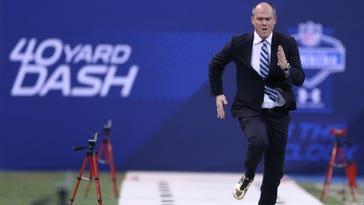 Rich Eisen's 40-yard dash time got slower this year