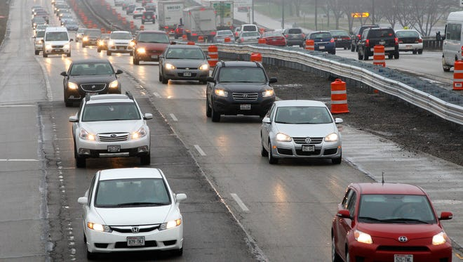 Traffic flows on I-43 in this file photo. The highway will be resurfaced between County Line Road and Highway 32 over the next two months.
