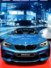 A BMW M2 Coupe is displayed Tuesday, Jan. 12, during