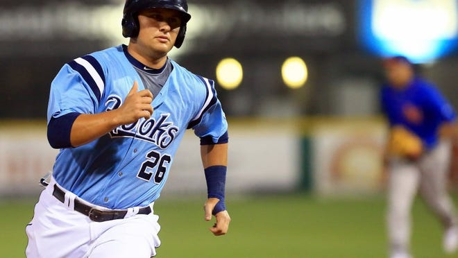 GABE HERNANDEZ/CALLER-TIMES Hooks' infielder JD Davis was named the Texas League Player of the Month on Monday.