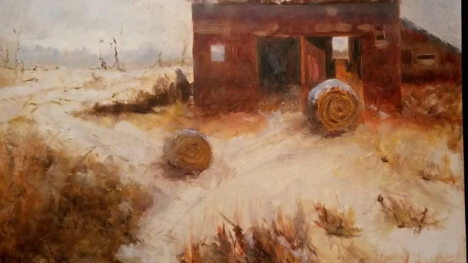 Painting by Karen Lee DeNoto, the Artist of the Month for August at the Gallery of the Door County Art League.