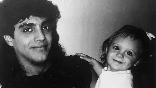 Record Managing Editor Ashley Catherine Fontones as a baby and her father Ralph in the 1990s.