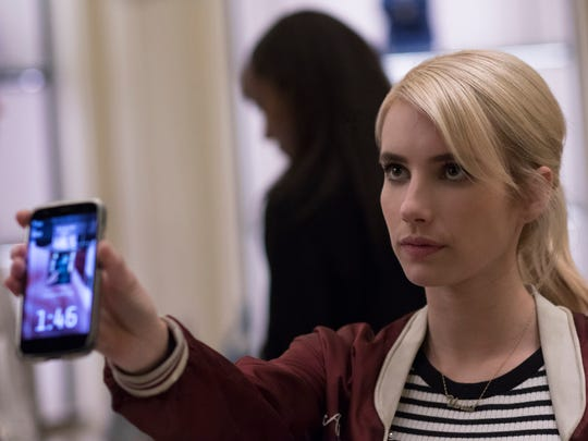 "Emma Roberts stars as Vee in ""Nerve."" The movie opens"