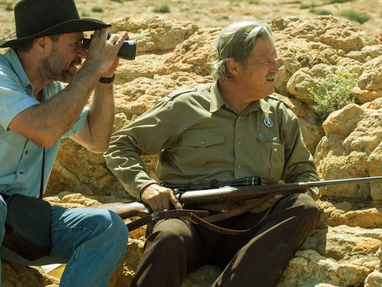 Kevin Wiggins (left) and Jeff Bridges play men chasing after two siblings on a robbery spree in 'Hell or High Water.'