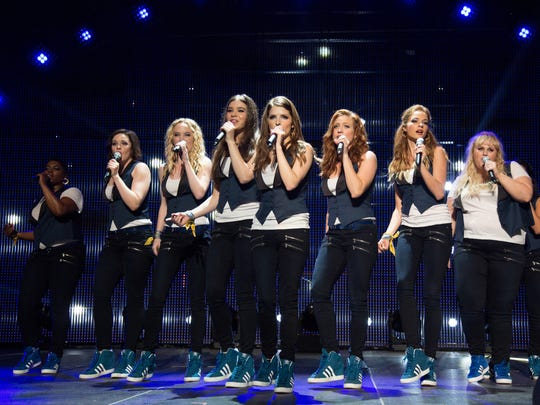 """The Barden Bellas in a scene from the film, """"Pitch Perfect 2."""""""