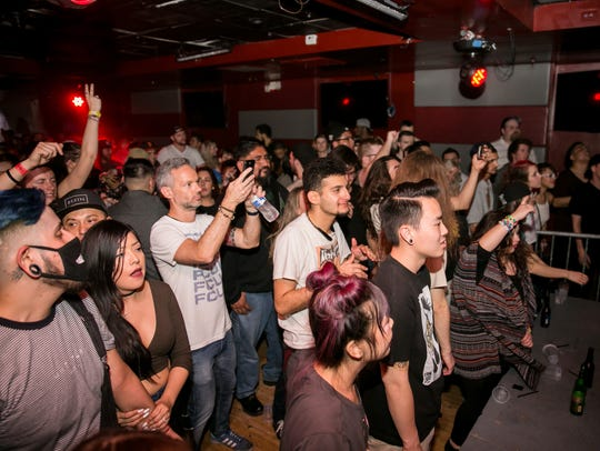 Mija's adoring fans at Monarch Theatre's Scarlett Room